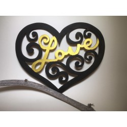 LOVE wooden heart