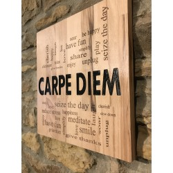 Carpe Diem wooden plaque