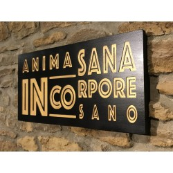 "Woodplate ""Anima Sana in..."